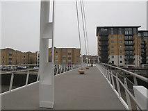 TQ3777 : Deptford Creek Swing Bridge: looking west by Stephen Craven