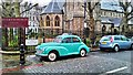 TQ2578 : Morris Minor in Redcliffe Square by PAUL FARMER