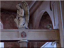 TQ4275 : St Barnabas church, Eltham: carved angel by Stephen Craven
