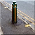 SJ9594 : Repaired bollard by Gerald England