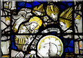 SE6051 : Detail, Stained glass window, All Saints' North St, York by J.Hannan-Briggs