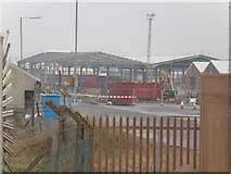 TA1128 : Dismantling  warehousing on Alexandra Dock, Hull by Ian S