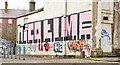 J3372 : Graffiti, Upper Crescent, Belfast (February 2015) by Albert Bridge