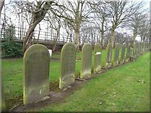 SJ7993 : Paupers' graves, Stretford Cemetery, from the south by Christine Johnstone