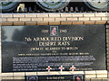 TL8196 : The plaque on the Desert Rat's memorial by Adrian S Pye