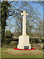 TL9190 : The War Memorial near East Wretham St. Ethelbert's church by Adrian S Pye
