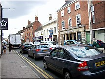TF0920 : Traffic problems in West Street, Bourne, Lincolnshire by Rex Needle