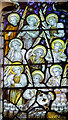 SE6051 : Detail, Stained glass window, All Saints' church, Pavement, York by J.Hannan-Briggs