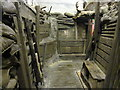 SJ4065 : World War I Trench in Cheshire Military Museum by Jeff Buck