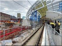 SJ8499 : Manchester Victoria Station Upgrading (February 2015) by David Dixon