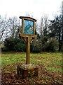 TL6533 : Village sign, Little Sampford by Bikeboy