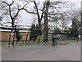 TQ3470 : Crystal Palace Park: cycle parking by Stephen Craven