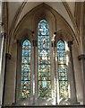 TQ3181 : Temple Church - Chancel north aisle east window by Rob Farrow