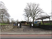 J3472 : Entrance to Ormeau Park on the Ormeau Road, opposite Candahar Street by Eric Jones