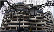 SK5804 : The derelict New Walk Centre by Mat Fascione