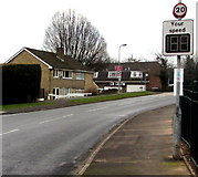 ST3091 : Your speed indicator in Almond Drive, Malpas, Newport by Jaggery