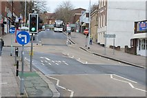 SX9292 : South Street in Exeter by Road Engineer