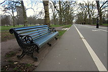 TQ2880 : Bench by Hyde Park cycleway by Philip Jeffrey