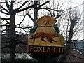 TL8344 : Foxearth, village sign by Bikeboy