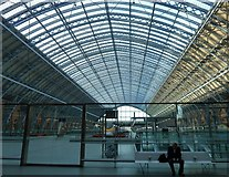 TQ3083 : St Pancras Station - The great arched roof by Rob Farrow
