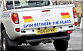 J5980 : RNLI lifeguard pick-up truck, Donaghadee - February 2015(2) by Albert Bridge