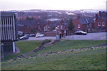 SK3771 : Arts centre car park below Rose Hill by Bill Boaden