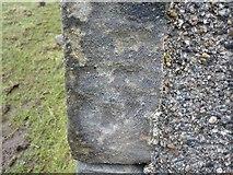 NR3143 : Very faint benchmark, Risabus Church ruin, Islay by Becky Williamson