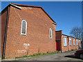 TQ4176 : St Nicholas church, Kidbrooke - east end and hall by Stephen Craven