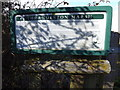 TM1176 : Sign at the entrance to Thrandeston Marsh by Adrian Cable