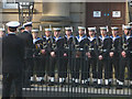 SD4761 : Sailors from HMS Lancaster at the Town Hall by Karl and Ali