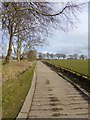 NZ0682 : Farm road from East Shaftoe Hall by Oliver Dixon