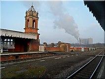 TL8565 : Northgate Railway station, Bury St Edmunds and sugar refinery by Bikeboy
