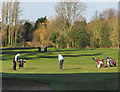 TA0429 : Golfers at Springhead Park, Hull by Paul Harrop