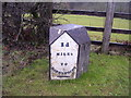 SN1509 : Milestone, Pen Y Bont, Amroth Parish by welshbabe