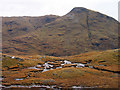 NN1450 : Peat banks and bog on south ridge of Beinn Maol Chaluim by Trevor Littlewood