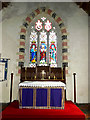 TM1377 : Altar & Stained Glass Window of All Saints Church by Adrian Cable