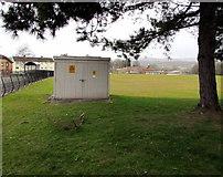 ST3091 : Electricity substation in a Malpas school field, Newport by Jaggery