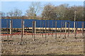 TQ6844 : New solar farm under construction by Willow Lane by Oast House Archive