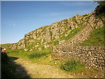 SK1482 : Wall angle, Cave Dale by Derek Harper
