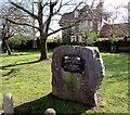 ST1380 : Windsor Road Twinning Stone, Radyr, Cardiff by Jaggery