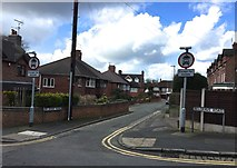 SJ8545 : Newcastle-under-Lyme: junction of Vessey Terrace and Belgrave Road by Jonathan Hutchins