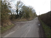 TM3071 : Badingham Road, Laxfield by Adrian Cable