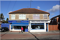 SJ4068 : Chatwins and Mill Lane Fish Bar, the Bache by Jeff Buck