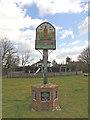TM2570 : Brundish village sign and War Memorial by Adrian S Pye