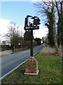 TM3067 : Badingham village sign by Adrian S Pye