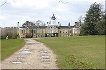 TQ1352 : The front of Polesden Lacey House by Shazz