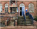 SJ9295 : Entrance to Denton Town Hall/Library/Police Point by Gerald England