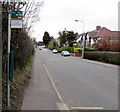 ST1379 : Comprehensive School bus stop sign, Radyr, Cardiff by Jaggery