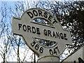 ST3604 : Dorset signpost, Forde Grange by Becky Williamson