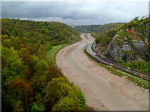 ST5673 : Tidal Avon from the Clifton Suspension Bridge by Jaggery